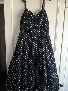 Pop Boutique Polka Dot Dress WithNetted Sewn In Skirt Size 3 Small