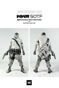 ThreeA 1/6 WWR Snow Mechanic Ross World War Robot Rare Hard To Find Ashley Wood