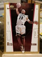 2003-04 Upper Deck MVP LeBron James Rising to the Occasion Rookie Card RC Insert