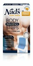 Nad's For Men Body Waxing Strips, 20 Count