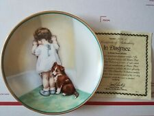 Vintage Child's Best Friend In Disgrace Collector Plate Hamilton Collection