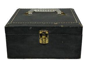 "vintage train case 9.5"" x 8.5"" makeup case overnight"