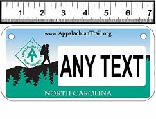 PERSONALIZED CUSTOM ALUMINUM MOTORCYCLE STATE LICENSE PLATE-NC APPALACHIAN TRAIL