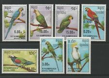 Thematic Stamps Animals - KAMPUCHEA 1989 BIRDS 7v 969/75 mint