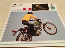 Fiche moto collection Atlas Motorcycle Kawasaki KS 125 cross 1974