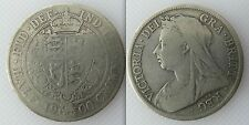 Collectable 1900 Queen Victoria Silver Half-Crown Coin - Old Veiled Bust