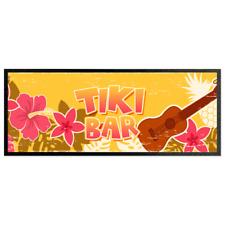 Tiki Bar Ukelele Bar Runner Cocktail Party Bar Mat Man Cave Bar Accessory