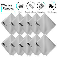 10 Pack Microfiber Cleaning Cloths For Glasses Camera Lens TV Cell Phone Screens