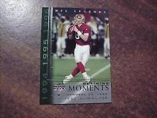 STEVE YOUNG 49ERS 2000 NFL LEGENDS DEFINING MOMENTS INSERT FOOTBALL CARD DM7