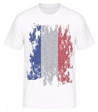 T-Shirt Frankreich Fahne Flagge 2016 EM Trikot Shirt für Fans mit Tickets Euro