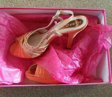 magrit orange wedding shoes size 4