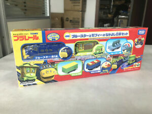 Takara Tomy Plarail Chuggington Brewster and Zephie with Freight Cars Set