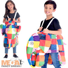Elmer Ride On Costume Kids Fancy Dress Patchwork Elephant World Book Day Costume  sc 1 st  eBay & Amscan elmer the elephant costume | eBay