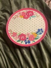 Pioneer Woman Birthday Cake Stand Pink  NEW