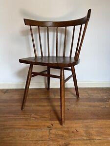 George Nakashima Straight Chair, Walnut. Original Early Edition, Knoll.