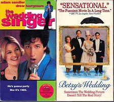 The Wedding Singer (VHS, 1999) & Betsy's Wedding (VHS, 1990)