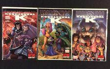 Kookaburra K #1 - 3 Comics alle signiert Humberto Ramos COA Marvel 2009 NM