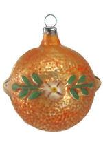 Marolin Orange MA2011046 German Glass Ornament w/Gift Box