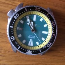 mens seiko Scuba divers watch Automatic Movement without strap Green Face.