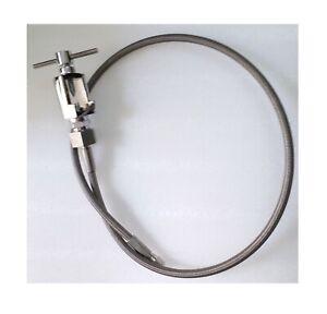 Laparoscopy Hose Pipe with Pin Index Valve Storz Type SS Mesh CO2 Insuflator 1Pc