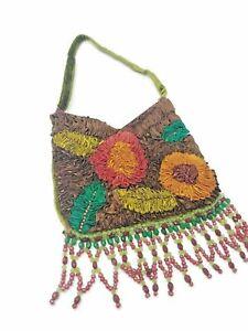 Christian Livingston Collection women beaded handbag purse velvet evening bag