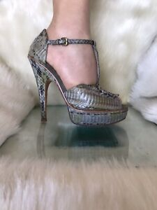 House of Harlow 1960 genuine snake leather,peep toe shoes ,high heels. Size 37.