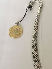 Gold Doubloon Coin WC36 Gold Made From Fine English Pewter On A DRAGON Bookmark