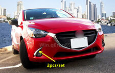 For Mazda 2 Demio 2015 2016 ABS Exterior Front Fog Light Eyebrow Cover Trim 2pcs
