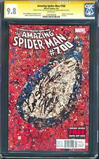 AMAZING SPIDER-MAN #700 SIGNED 3X STAN LEE, RAMOS +1 CGC SS 9.8 NEWSSTAND 1:100