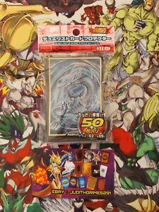 ♦️ Yu-gi-oh 50 Protège Carte Sleeve Dragon Blanc Aux Yeux Bleus Blue Eyes White
