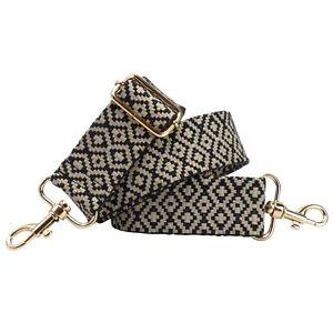 BENAVA Taschengurt Schulterriemen Gurt Schwarz Weiß Verstellbar Baumwolle 40mm