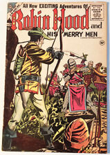 Robin Hood & His Merry Men 28 (#1) VG/F 1956 Charlton Double Cover