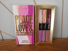 PEACE LOVE & GLOSSINESS discontinued lip gloss set BENEFIT Magic/Kiss You/24k ++
