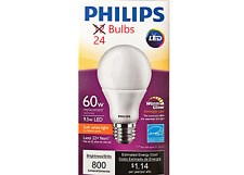 24 Bulbs - Philips 60W Equiv 9.5w LED Soft White Dimmable Bulb