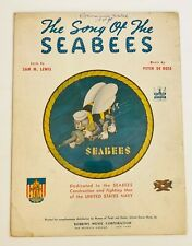 """New Listing1942 """"The Song of the Seabees"""" Sheet Music Dedicated to Seabees & Men of the Usn"""