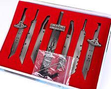 Final Fantasy FF7 VII Advent Children Cloud Assembled Blade Swords set +box new