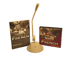 Learn to Speak French Language w/ Reference Book and Microphone 5 CD Set