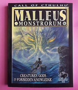 MALLEUS MONSTRORUM - CALL OF CTHULHU RARE RPG ROLEPLAYING LOVECRAFT CHAOSIUM BRP