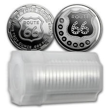 Special Price! 1 oz Silver Round - Get Your Kicks on Route 66 (Lot of 20)