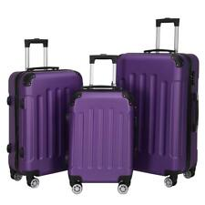 """3 Pcs Luggage Travel Set Bag ABS Trolley Ample Storage Space 20""""24""""28"""" Suitcase"""