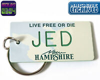 Personalized New Hampshire State License Plate Keychain Tag - Any Name- Vintage