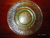 Imperial Green Depression Glass Twisted Optic Plate