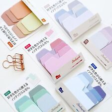 1 Set Gradient Colorful Sticky Memo Pad Daily Sticker Note Bookmark Scrapbooking