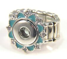 Noosa Style Chunks Ring Base Mini Snap Button Charms Ginger Snaps Flower 12mm