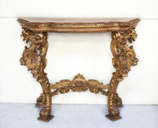 Continental Gilt Hand Carved Console Table circa 1900