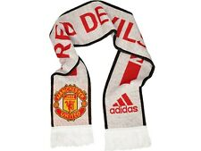 MAN UTD OFFICIAL LICENSED ADIDAS SCARF WHITE NEW