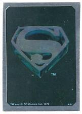 1978 Superman the movie (DC Comics) Foil insert Sticker Card.
