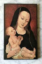 Madonna mit Kind - französisch-flämische Schule, 15.Jh., Kunstdruck auf Holz