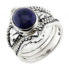 Southwestern Sterling Silver Ring Set with Lapis Size 5