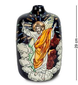 Decorative Porcelain Blace Vase Decor Pavone Statue Tabletop Pot Jesus Religious
